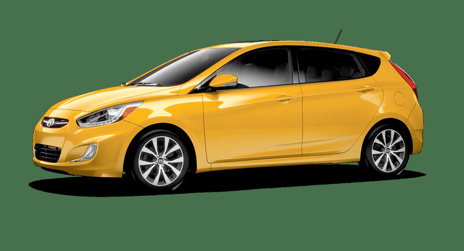 Yellow Hyundai Accent